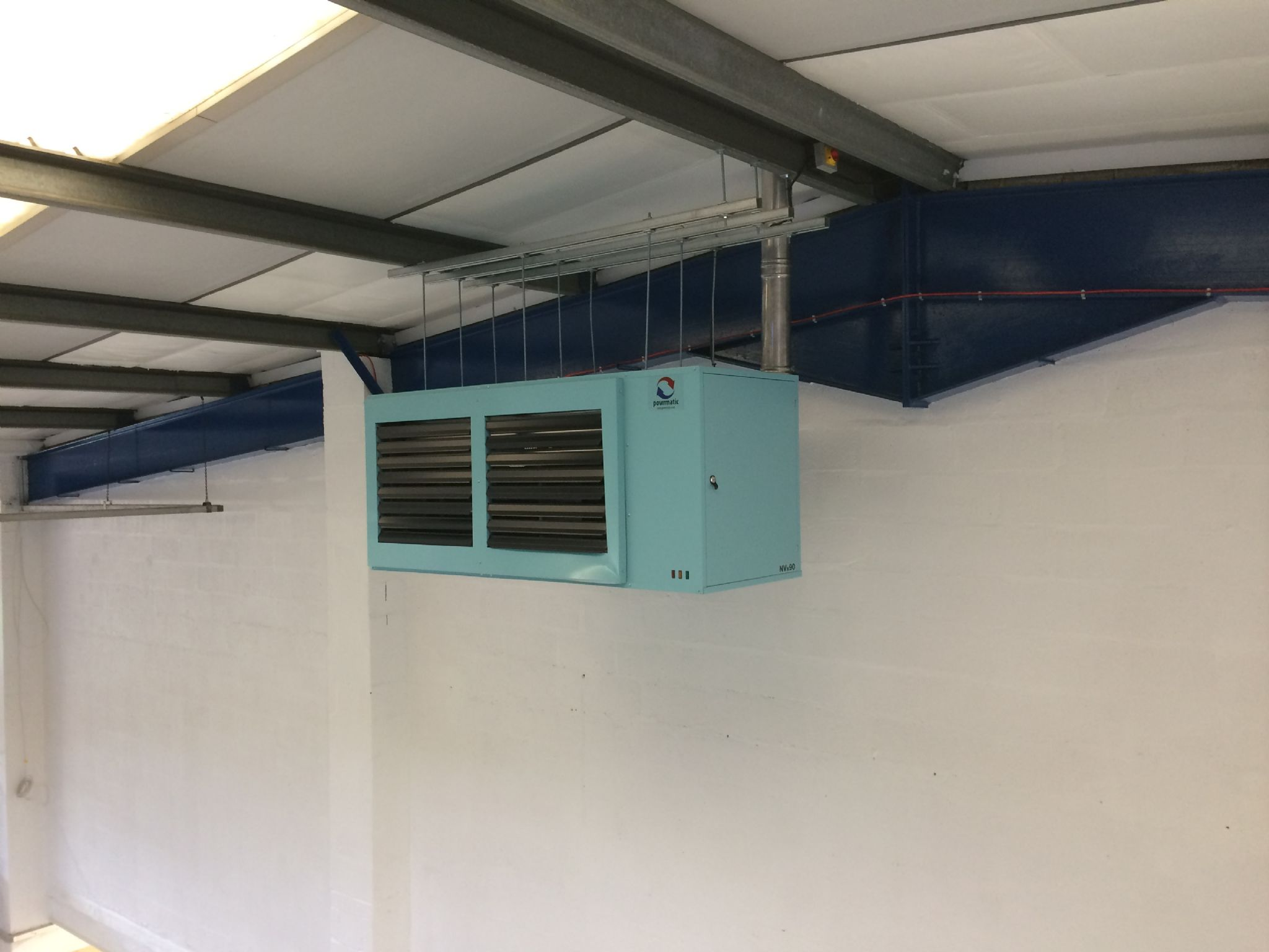 Powrmatic Nvx90sf F Suspended Gas Unit Heater 90kw